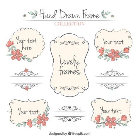 Cornici Ornamentali Set Di Disegnati A Mano Cornici Ornamentali Scaricare