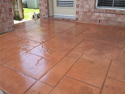 sted concrete patio houston