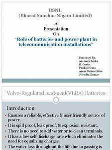 Role Of Battery In Telecom