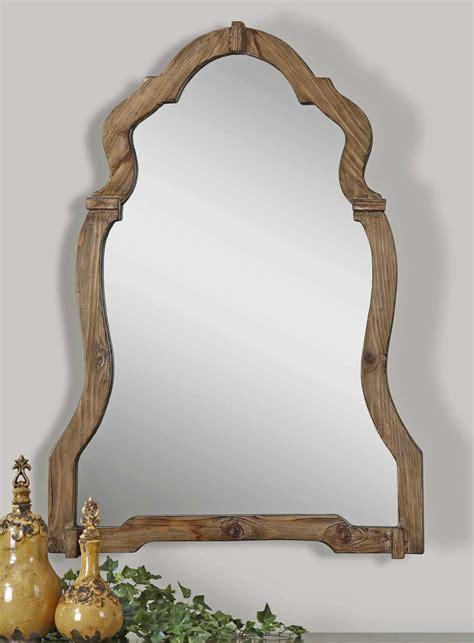 Uttermost Mirrors by Uttermost Agustin 30 X 43 Light Walnut Wall Mirror Ut07632
