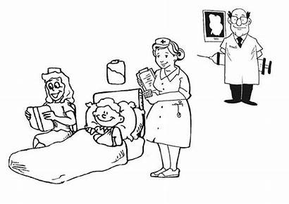Hospital Coloring Medical Pages Help Printables Assistant