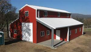 O39connell steel buildings home for Barn style metal building kits