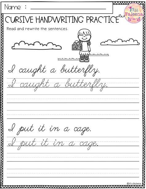 kindergarten handwriting homework worksheets tags