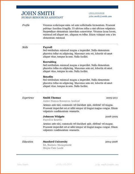 Microsoft Word Template Resume by 13 Microsoft Word 2007 Resume Templates Budget Template