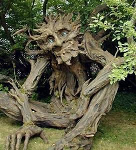Magnifiques sculptures avec les branches des arbres