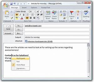 quick tip switch between signatures in outlook 2007 the With outlook 2007 template shortcut