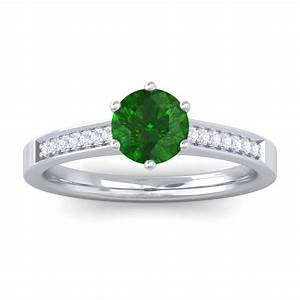 green emerald gh si diamond gemstone engagement ring women With emerald wedding rings for women