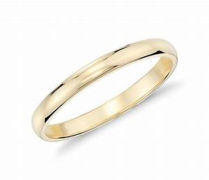 classic wedding ring in 18k yellow gold 2mm blue nile With 18k wedding rings