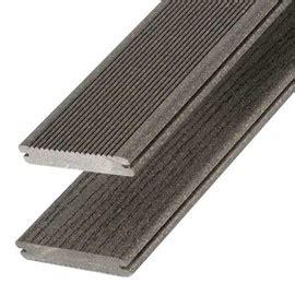 lame de terrasse composite terra gris l 244 x l 12 7 cm