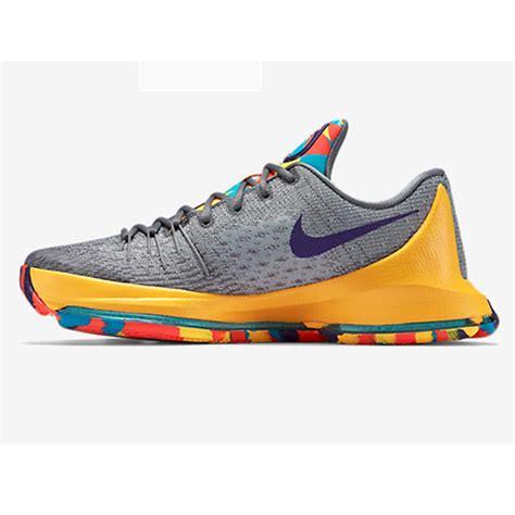 nike kd  basket ball shoe gray  yellow buy nike kd