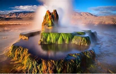 Geyser Fly Nevada Desert Usa Rock Stream