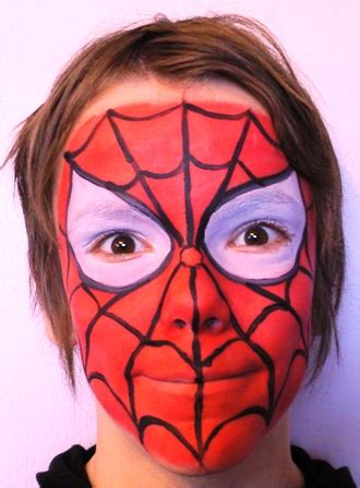 Easy Face Paint Tutorial Spider Man Ecosia