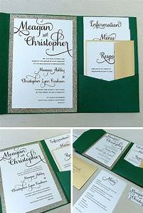 best 25 emerald green weddings ideas on pinterest With glitter wedding invitations ireland
