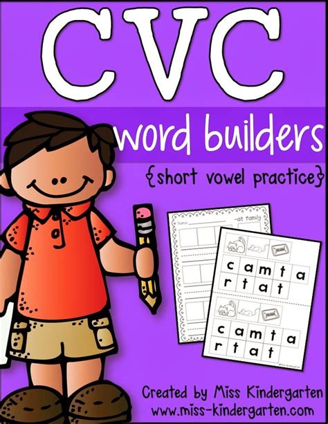 cvc word builders  images cvc words