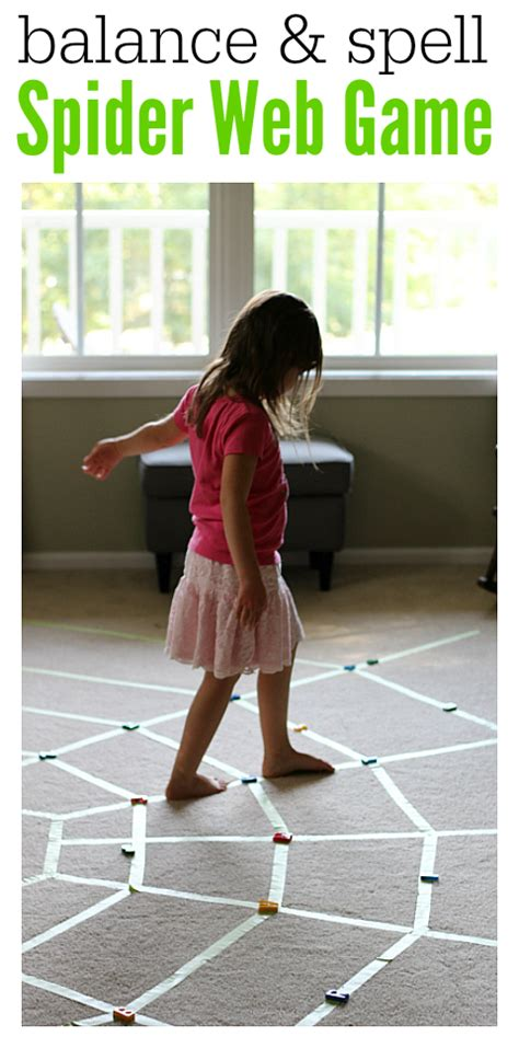 balancing games for preschoolers spider web walking spelling no time for flash cards 133