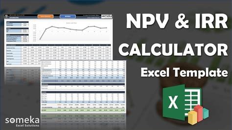 npv irr calculator excel template calculate npv irr