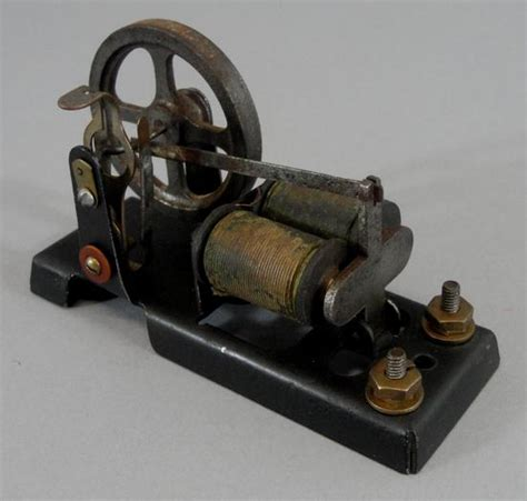 Antique Electric Motor by Small Antique Circa 1900 Miniature Cast Iron Electric