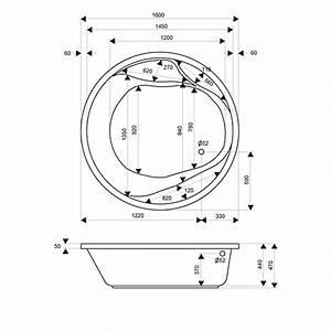 Hydromassage Bathtub Vegas Round Style Awal Bath Systems