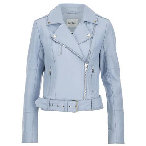 light blue leather jacket womens gestuz women 39 s prue jacket baby blue womens clothing