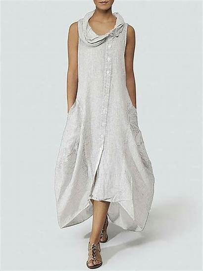 Summer Dresses Cocoon Justfashionnow Daily Solid Sleeveless