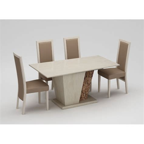 kati marble effect dining table with 6 kati dining