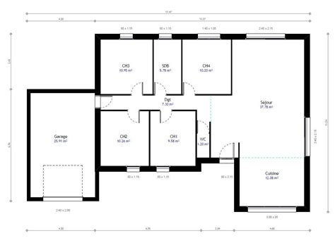 Plan Maison Individuelle 4 Chambres 78