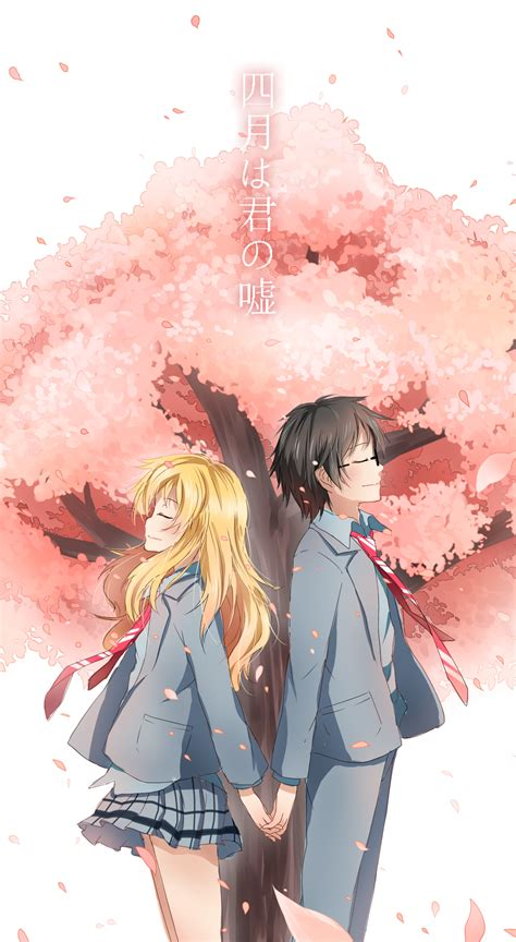 Under The Cherry Blossom  Kaori And Kousei  Your Lie In