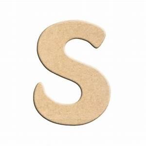 Lettre En Bois A Peindre : lettre s peindre d corer lettre en bois brut lettre ~ Dailycaller-alerts.com Idées de Décoration