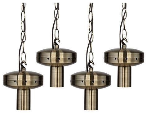4 light antique brass shade multi light pendant diy kit