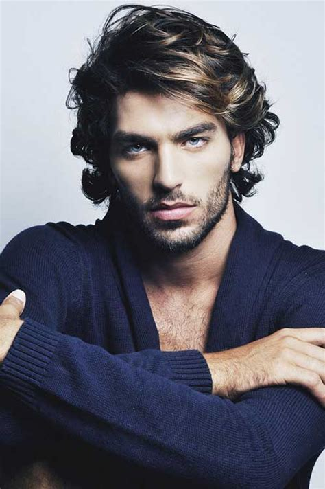 mid length hairstyle  men mens hairstyles