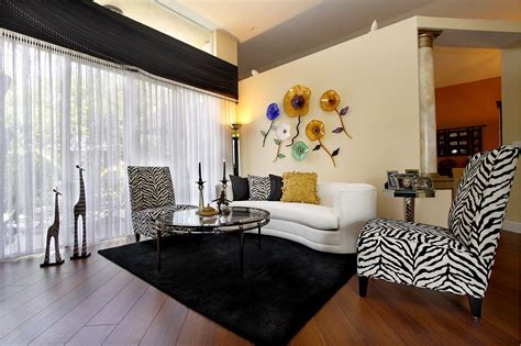 And White Chairs Living Room by 17 Zebra Living Room Decor Ideas Pictures