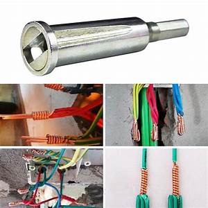 Quick Electrical Wire Connector With Square Drill Bit