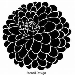 Zinnia Flower Stencil