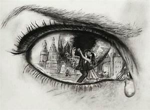 art, noir et blanc, pleurs, sombre, dessin - image ...