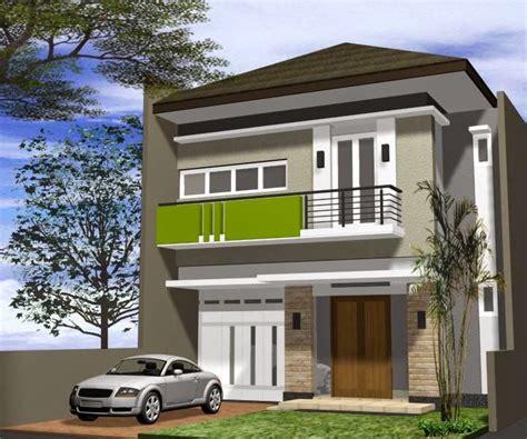 model rumah minimalis dua lantai  terlihat kokoh