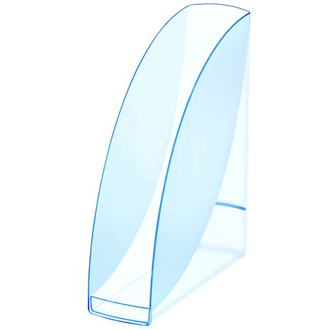 le loupe de bureau cep blue porte revues transparent bleu porte revues