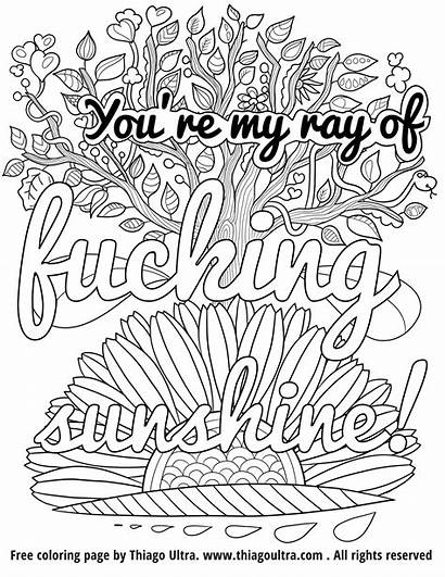 Coloring Pages Cuss Words Word Printable Swear