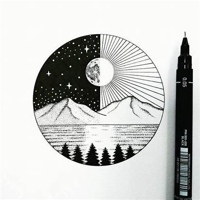 Easy Drawing Drawings Cool Circle Whimsical Yourself