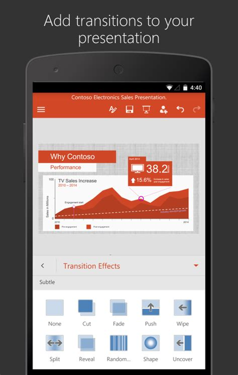 microsoft powerpoint for android microsoft powerpoint android apps on play