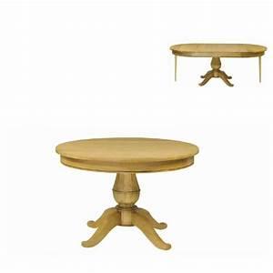 Table Pied Central Extensible : table rustique en bois massif extensible pied central ~ Teatrodelosmanantiales.com Idées de Décoration