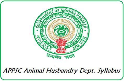 appsc animal husbandry asst syllabus   check ahd