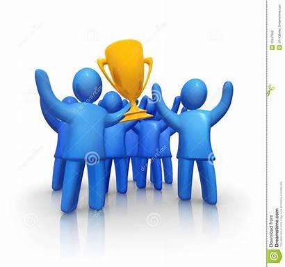 Team Winning Trophy Winners Shutterstock Illustration Vector