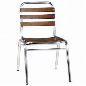 Chaise Bois Exterieur : chaise metal exterieur terrasse bistrot table de lit ~ Teatrodelosmanantiales.com Idées de Décoration