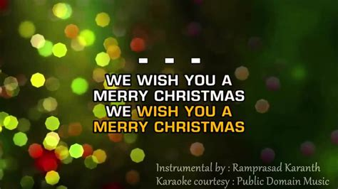 We Wish You A Merry Christmas Instrumental With Lyrics