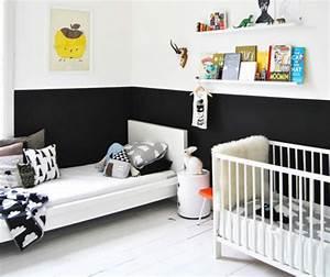 Chambre Enfant Blanc : noir et blanc s 39 invitent dans la chambre d 39 enfant joli tipi ~ Teatrodelosmanantiales.com Idées de Décoration