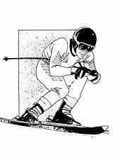 Skieen Skiing Kleurplaten Coloring Pages Fun Kleurplaat Sports Van Zo sketch template