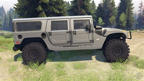 Hummer H1 Army Grey For Spin Tires