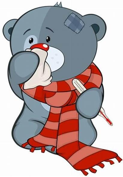Clipart Sick Bear Illness Cartoon Convalescence Well
