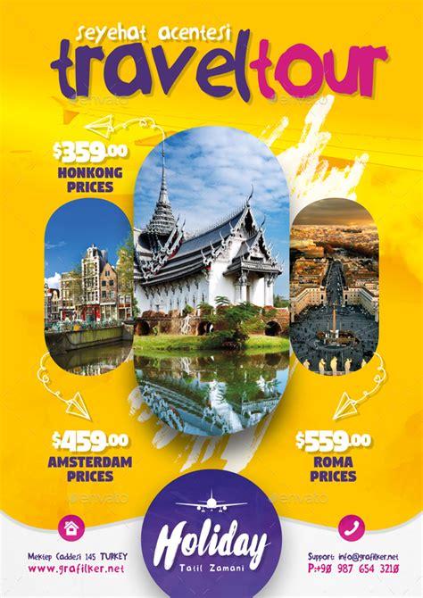 travel tours flyer bundle templates  grafilker