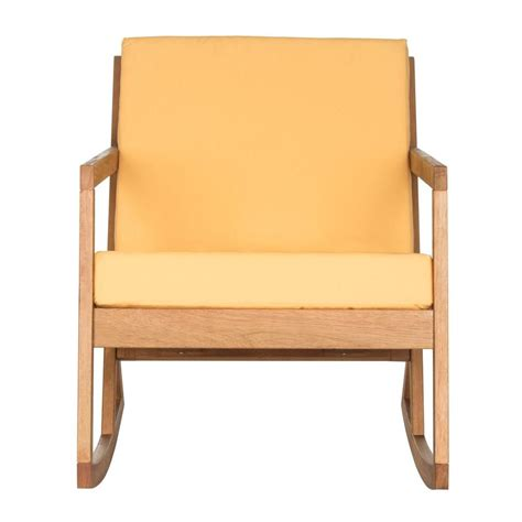 safavieh vernon teak brown outdoor patio rocking chair